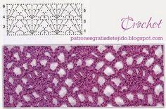 6 Patrones de Nuevos puntos crochet   Crochet y Dos agujas