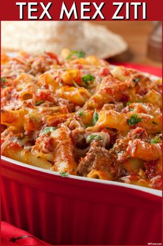 When you can't decide between Italian or Mexican, there's always this easy, beefy Tex Mex Ziti. It's sure to be a family-favorite!