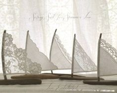 Five 4 to 5 inch Driftwood Sailboats Antique by LoveEmbellished