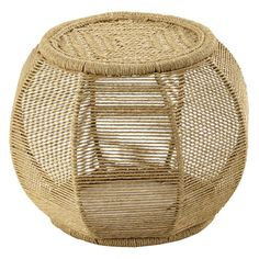 ANDES rope wicker pouffe