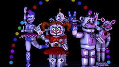 (sfm fnaf sl) Sister location Characters by on DeviantArt Fnaf 5, Fnaf Wallpapers, Funtime Foxy, Fnaf Sister Location, Circus Baby, Five Nights At Freddy's, Best Games, Sisters, Fun Time