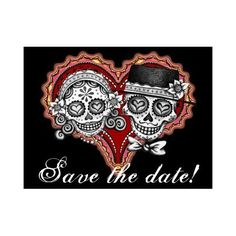 Sugar Skull Couple Stamps Customize the Text!: Office