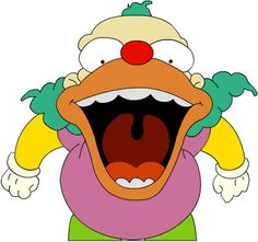 Krusty Krusty Der Clown, Funny Picture Quotes, Funny Pictures, Face In Hole, Es Der Clown, I Love To Laugh, 8th Birthday, The Simpsons, Disney Characters