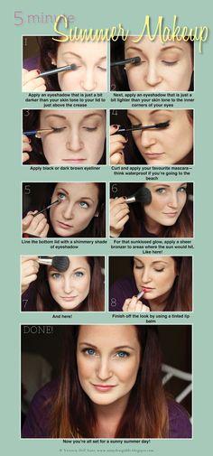 Easy summer makeup!
