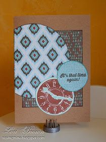 Love the clock and the color combo/papers Saving My...: Jump On It!
