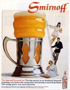 Vintage Ad Archive: The Wonderful And Colorful! Vintage Wine, Vintage Ads, Smirnoff, Wine And Spirits, Vintage Advertisements, Liquor, Vodka, Cocktails, Drinks