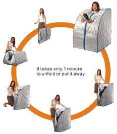 AmazonSmile: Sauna Portable Large Size Box Carbon Fiber Heat Infrared with Foot Massager New: Health & Personal Care