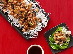 Get Almost-Famous Chicken Lettuce Wraps Recipe from Food Network