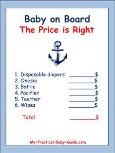 Free printables for Nautical Baby Shower