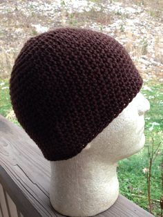 The Perfect FORM FITTING BEANIE. No Seams, Chocolate Brown on Etsy, $24.00