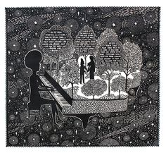 Rob Ryan, Your song was my song, 2013 (paper cut)