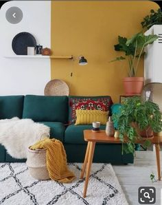 Cozy Home Interior .Cozy Home Interior Yellow Walls Living Room, Living Room Red, Home And Living, Living Room Decor, Yellow Couch, Ethnic Living Room, Colourful Living Room, Modern Living, Deco Ethnic Chic
