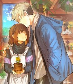 Undertale Fan Art Frisk X Sans