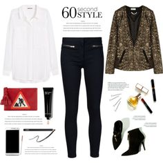 Daytime sequins by yexyka on Polyvore featuring moda, H&M, Veronica Beard, Anya Hindmarch, Conair, Bobbi Brown Cosmetics, NARS Cosmetics, DAY Birger et Mikkelsen, Samsung and Maryam Keyhani
