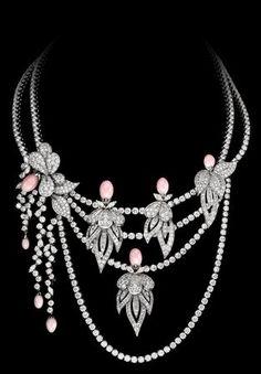 Boucheron diamonds with conch pearls
