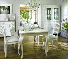 Do you want to renew the decoration of your home? Decorating Your Home, Interior Decorating, Interior Design, Dining Decor, Dining Table, Dining Rooms, Bleu Pastel, Provence Style, White Furniture