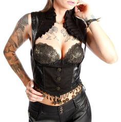 $95 LIP SERVICE GYPSY VEGI LEATHER STEAMPUNK UNDERBUST SHIRT TOP CORSET CINCHER in Clothing, Shoes & Accessories, Women's Clothing, Tops & Blouses | eBay