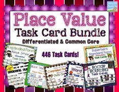 Engage your students in learning about place value with 446 Place Value Task Cards! These place value task cards are DIFFERENTIATED to meet the needs of all of your students.