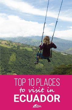 Top 10 places to visit in Ecuador Ecuador Travel, Bolivia Travel, Peru Travel, Travel Usa, Quito Ecuador, Backpacking South America, Backpacking Europe, South America Travel, Cool Places To Visit