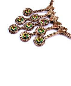 Beading pattern/ beading tutorial for seed beadweaving- Pretty Peacocks