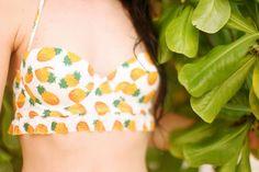 The Cherry blossom girl  - pineapple bra