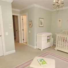 Pink And Green Nursery Traditional Kids Dallas Susie Isaac I Love The Paint Color Would Be Great For A Bathroom Or Laundry Room