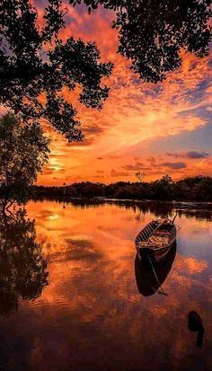 Magical sunrise at river country.. Vietnam