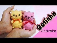 gatinho chaveiro amigurumi - YouTube Diy Crochet, Crochet Crafts, Crochet Toys, Amigurumi Patterns, Hello Kitty Crochet, Crochet Videos, Twinkle Twinkle, Cute Dogs, Toys