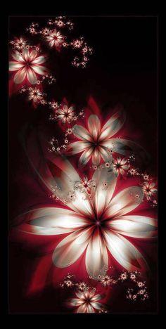 Lalulutres: flower fractals awesome wallpapers for phone, beautiful wallpaper for phone, red flower Art Fractal, Fractal Design, Hipster Background, Butterfly Wallpaper, Cellphone Wallpaper, Pretty Wallpapers, Pics Art, Wallpaper Backgrounds, Trendy Wallpaper