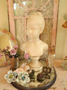 bust for my vanity.   These busts are making a big comeback drape with necklaces and pearls, make a lovely french country look.