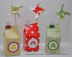 Mini-Milchkarton Stampin Up, Boxes, Container, Gift Wrapping, Mini, Cute, Cards, Gifts, Packaging