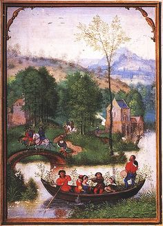 Labors of the Months: May, from a Flemish Book of Hours (Bruges).   Simon Bening. First half 16th century.
