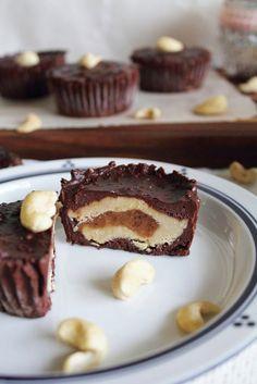 This Rawsome Vegan Life: chocolate tahini caramel delights