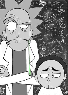 Rick and Morty black and white by Coolygirl03 on @DeviantArt