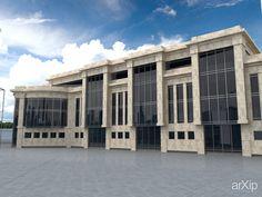 Торговый комплекс: архитектура, 3 эт   9м, 500 - 1000 м2, каркас - ж/б, торгово-развл. центр, здание, строение, ампир #architecture #3floors_9m #500_1000m2 #frame_ironconcrete #shoppingandentertainingcenter #highrisebuilding #structure #empire arXip.com