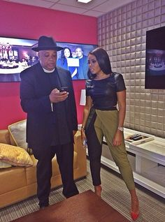Like what you see⁉ Follow me on Pinterest ✨: @joyceejoseph ~  Angela Simmons with her Father