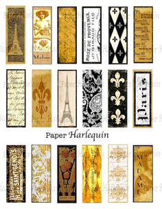 Paris Vintage Style Rich Microscope Slides for crafting lots of fun things, by PaperHarlequin  #Paris #France #Jewelry #DIY