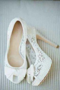 Beautiful vintage lace heels
