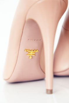 Prada nude heels - always elegant, always in style.. Just got these ugh. So pretty