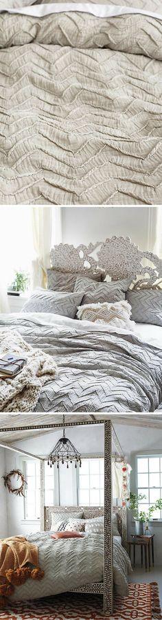 Textured Chevron Duvet Cover | Traditional | Modern | Neutral Colors | Bedding | Bedroom Decor | Comforter | Home Decor | Sponsored #shopping #bedroom #homedecor