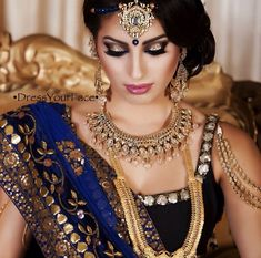 Bridal Make-up & hair by MUA Tamanna Roashan of DressYourFace.