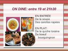 Imagini pentru les repas en france Quiche, Dog Food Recipes, Oatmeal, France, Breakfast, Meal, Dish, The Oatmeal, Morning Coffee