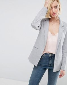 ASOS Longline Ponte Jacket  Soft-touch ponte  Notch lapels  Open front  Functional pockets  Longline cut  Regular fit - true to size  Machine wash  79% Polyester, 18% Viscose, 3% Elastane  lining 100% polyester