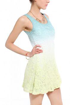 Ombre Lace Dress