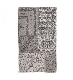 Cotton chenille grey carpet with patch design. The pattern of this rug, is a modern choice for your home. Fabric Rug, Patch Design, Rugs On Carpet, Carpets, Grey Carpet, Patches, Pattern, Collection, Home Decor