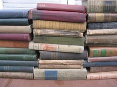 earthtone books book stack fall colors yard long muted shades