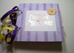 Bridal Shower Mini Album Bridal Shower Scrapbook by HampshireRose, $40.00