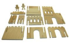 Interchangeable Wood Castle Keep, Kids Toy, Fantasy, Woodland, Dragons