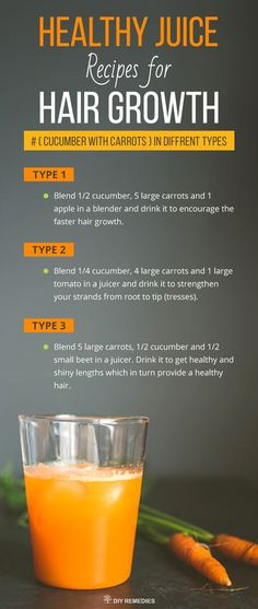 Cucumber with Carrots Healthy Juice Recipes for Hair Growth #hairlossjuice