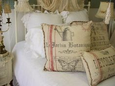 .A little aged fabric and some stenciling should do it!